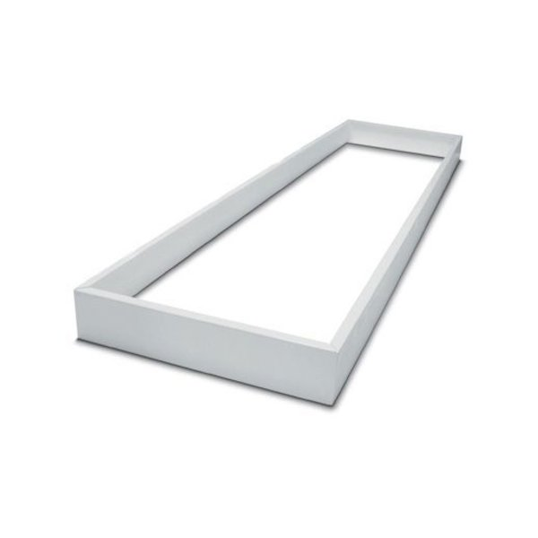 LED paneel opbouw aluminium -  wit - 120x60 frame systeem - 5cm hoog incl. schroeven