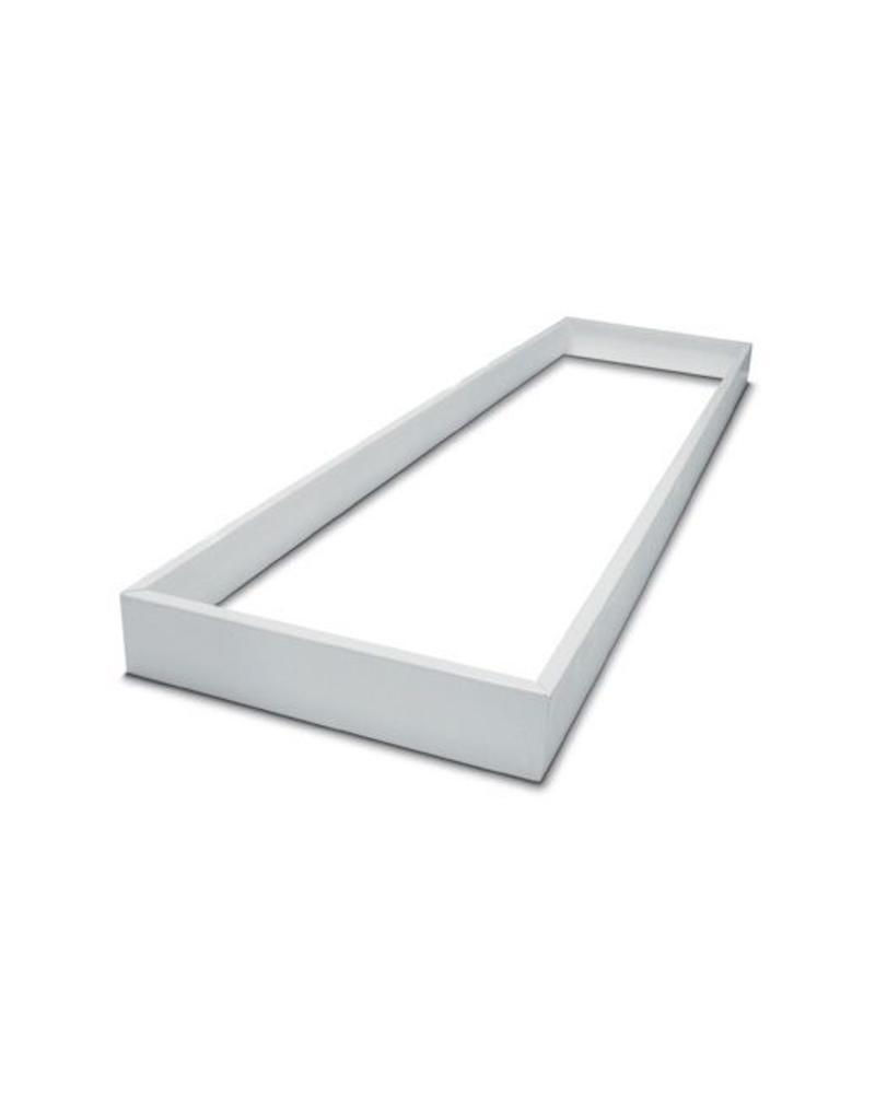 Led paneel opbouw - 120x60 framesysteem - Wit aluminium - 5cm hoog incl. schroeven