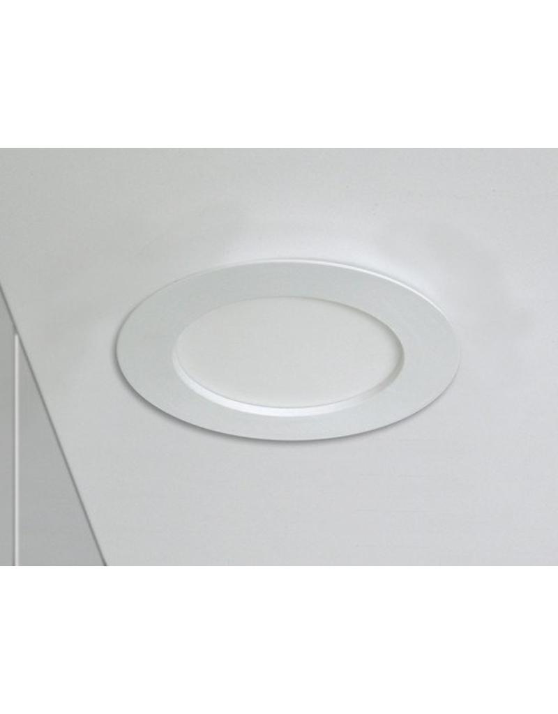 LED inbouwspot rond - 6W vervangt 40W - inbouwmaat 100x32mm - 6000K daglicht wit