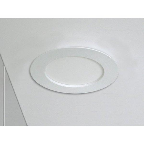 LED inbouwspot rond - 6W vervangt 40W - inbouwmaat 100x32mm - 3000K warm wit licht
