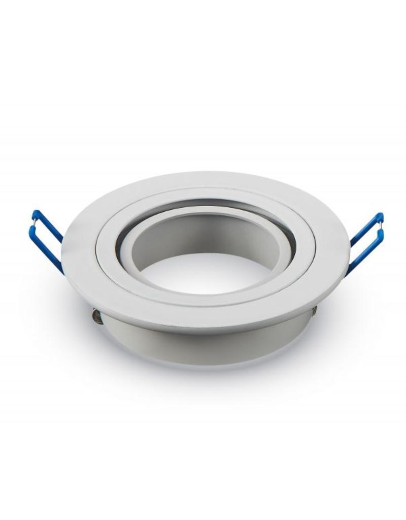 LED spot armatuur wit rond kantelbaar zaagmaat Ø75mm buitenmaat Ø92mm