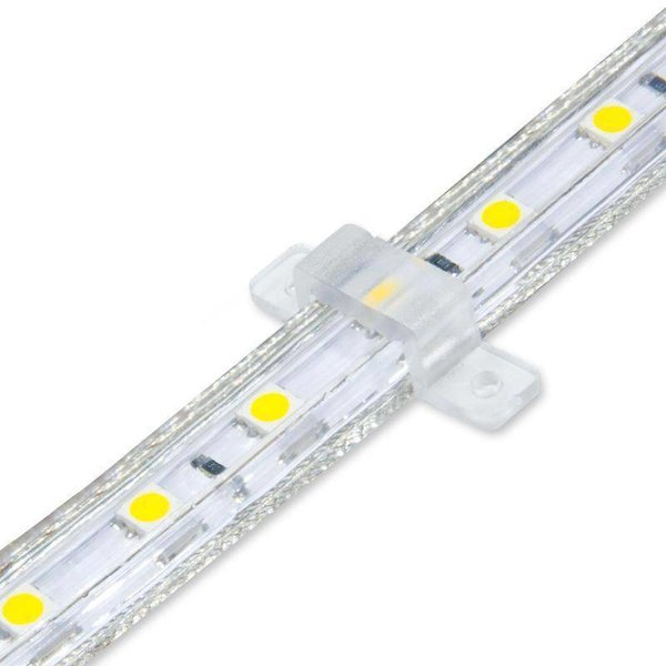 LED Lichtslang plat- 50 meter - 3000K warm witlicht  - Plug and Play