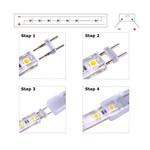LED lichtslang aansluitsnoer 230V EU stekker incl. aansluitmateriaal