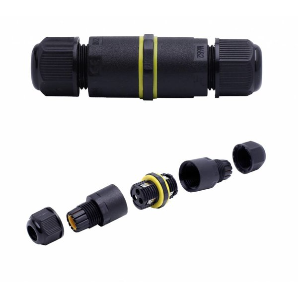LCB Waterdichte kabelverbinder 3-polig - voor 0.5 - 1mm² - IP68 - geschikt voor 2- en 3-aderige kabel