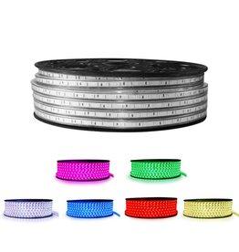 LED lichtslang  RGB 50 meter incl. aansluitsnoer met 1 knops bediening