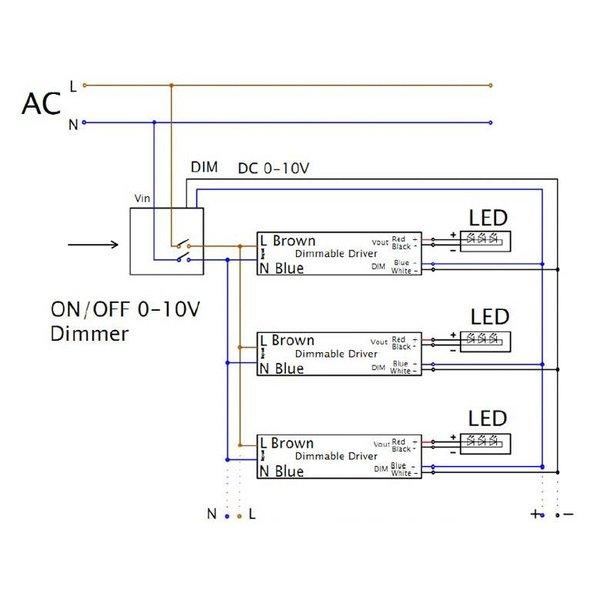 1-10V dimmer 800W met afstandsbediening voor LED panelen