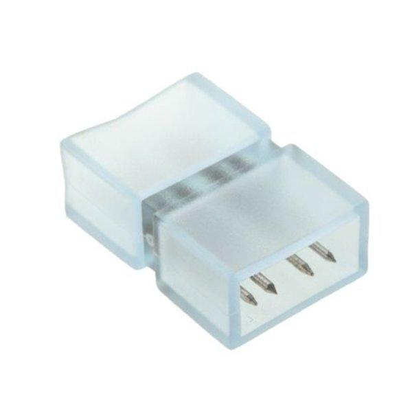 RGB LED lichtslang vier pins connector aansluiting met plastic omhulsel