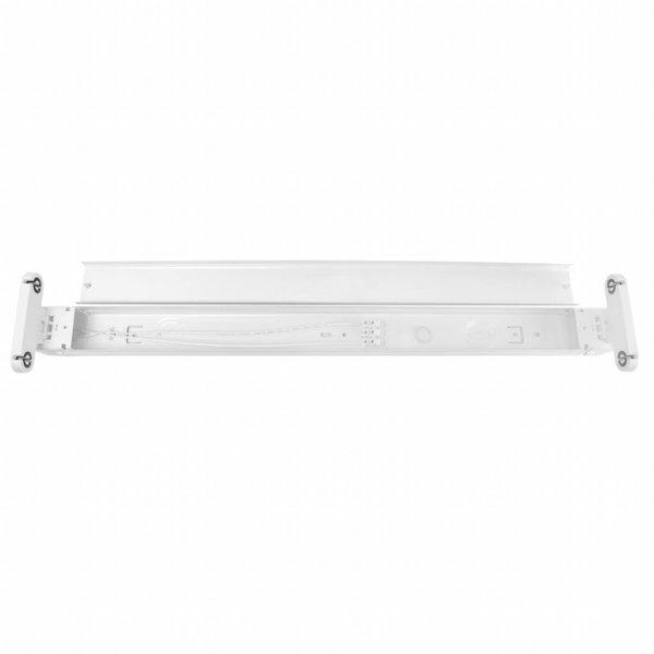 Aluminium armatuur 600 mm voor 2 LED T8 buizen