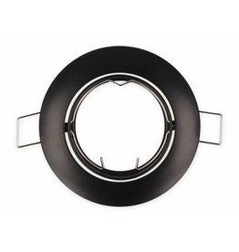 Inbouwspot zwart rond - kantelbaar - buitenmaat 84mm zaagmaat 75mm