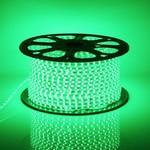 LED lichtslang plat 50 meter Groen licht incl. aansluitsnoer