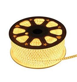 LED lichtslang plat 50 meter 3000K Warm Wit licht 180 LEDs per meter incl. aansluitsnoer