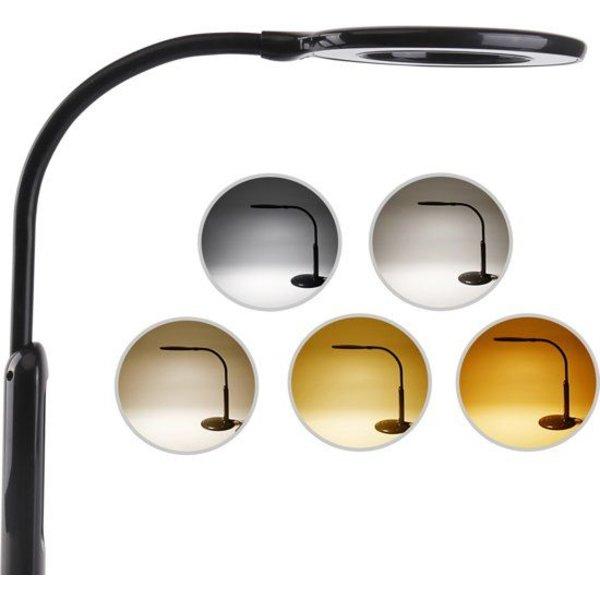 LED Bureaulamp IVY Zwart - 7W 2700-6500K licht - Touch bediening