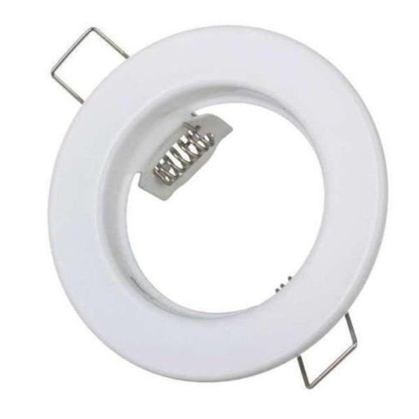 Inbouwspot wit rond - niet kantelbaar - zaagmaat 60mm - buitenmaat 80mm