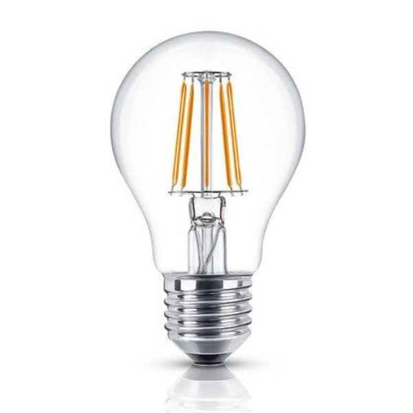 LED filament lamp - dimbaar - E27 A60 - 8W vervangt 80W - 2700K warm wit licht