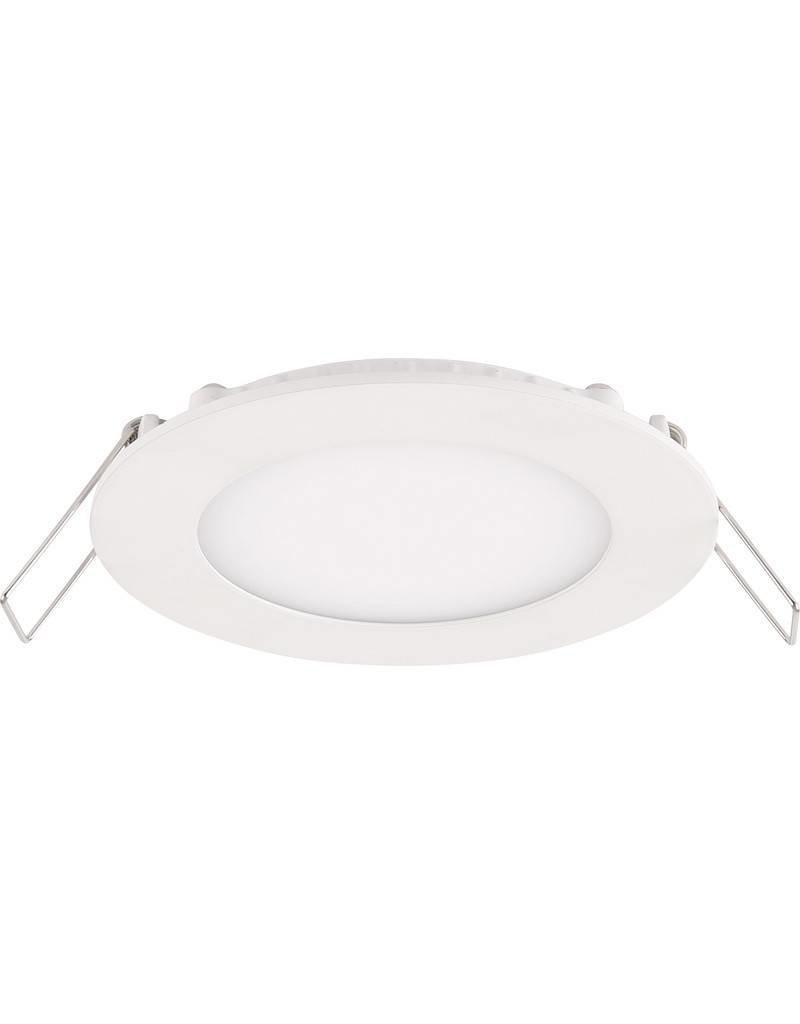 LED inbouwspot rond aluminium - 3W vervangt 25W - inbouwmaat 75x21mm - 4000K helder wit licht