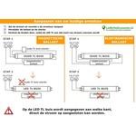 PRO LED TL buis 120cm 6500K (865) 18W - Pro High Lumen 140lm p/w - 5 jaar garantie