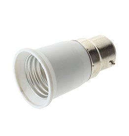 Verloopfitting B22 naar E27 wit max. 60W