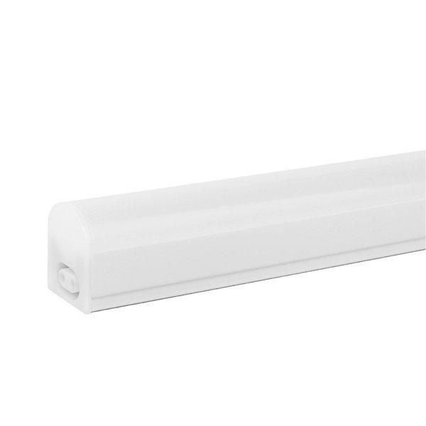 T5 LED armatuur 30cm - 4W vervangt 40W - 6500K daglicht (865) - compleet met 1.5m aansluitsnoer en aan- uitknop