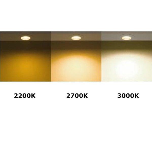 Dimbare LED spot - GU10 5,5W - 2700K warm wit licht - Glazen behuizing