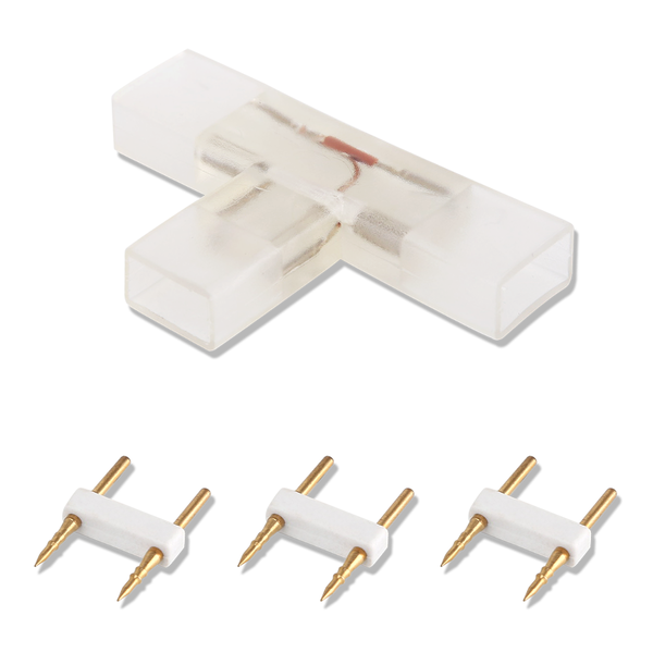 LED lichtslang twee pins connector T-connector