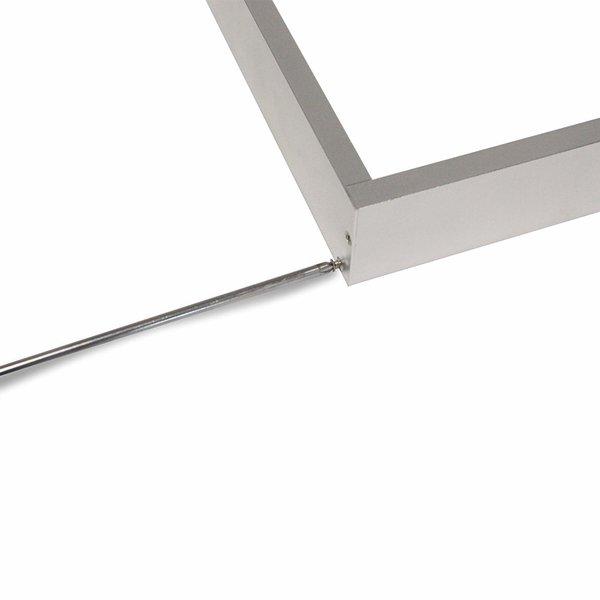LED paneel opbouw aluminium - Zilver - 120x30cm frame systeem - 5cm hoog incl. schroeven