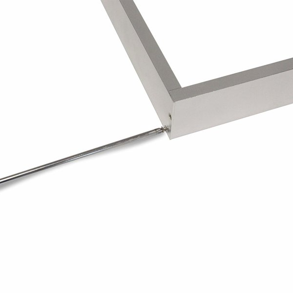 LED paneel opbouw aluminium - Zilver - 120x60cm frame systeem - 5cm hoog incl. schroeven