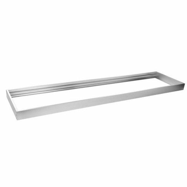 LED paneel opbouw aluminium - Zilver - 60x30cm frame systeem - 5cm hoog incl. schroeven