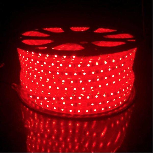 LED lichtslang  plat - RGB - 25 meter incl. aansluitsnoer met 1 knops bediening