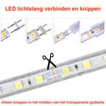 LED lichtslang  plat - RGB - 5 meter incl. aansluitsnoer met 1 knops bediening