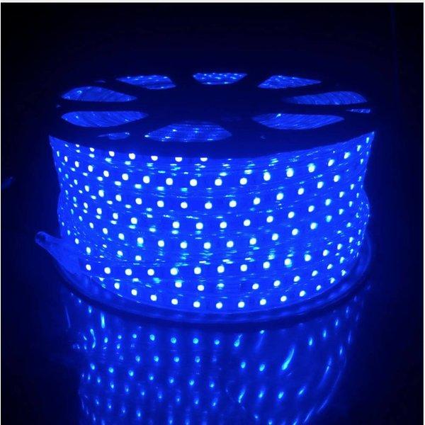 LED lichtslang  plat - RGB - 10 meter incl. aansluitsnoer met 1 knops bediening  -