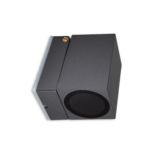 LED wandlamp verstelbaar - GU10 fitting - IP44 - Geschikt voor 1 GU10 spot - Antraciet