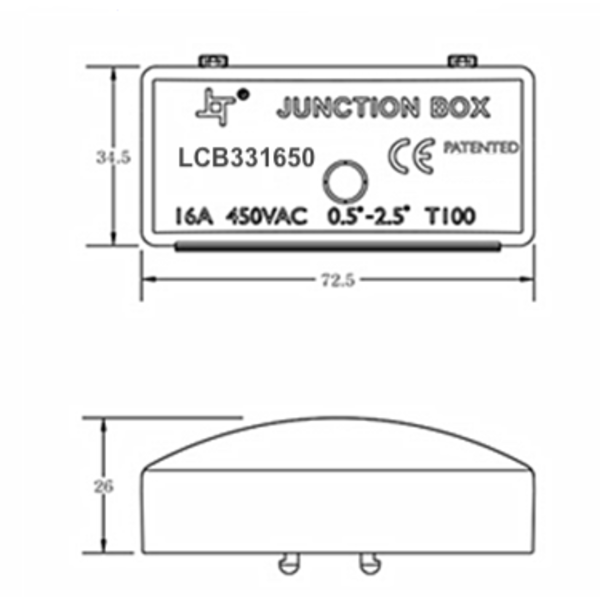 LCB Lasdoos met kroonsteen - 3-aderig 0,25mm² tot 2,5 mm² - IP44