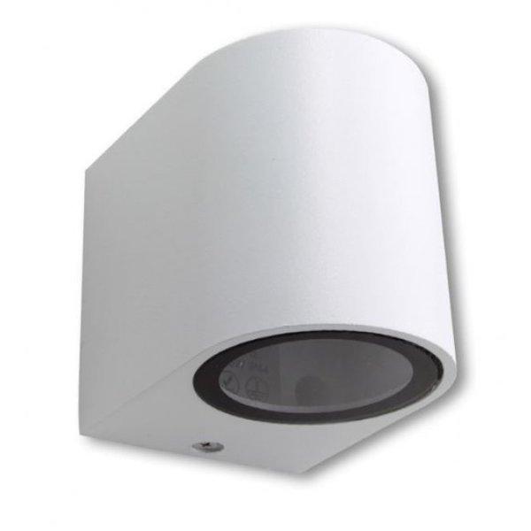 LED Wandlamp rond wit - GU10 fitting - IP44 - Geschikt voor 1 GU10 spot
