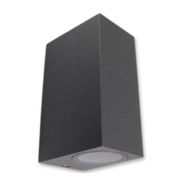 LED wandlamp - GU10 fitting - IP44 - Geschikt voor 2 GU10 spots - Antraciet