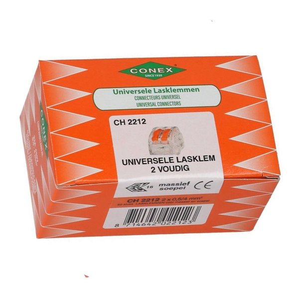 Conex 50 stuks Conex Lasklem kabelverbinders - 2 polig 0,5 tot 4mm²