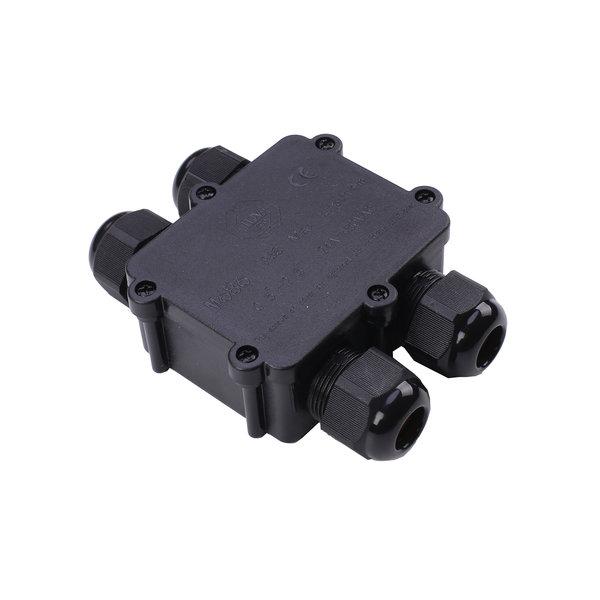 LCB Waterdichte Lasdoos IP68 - 4 ingangen incl. kabelverbinders en verschillende maten afdicht rubbers