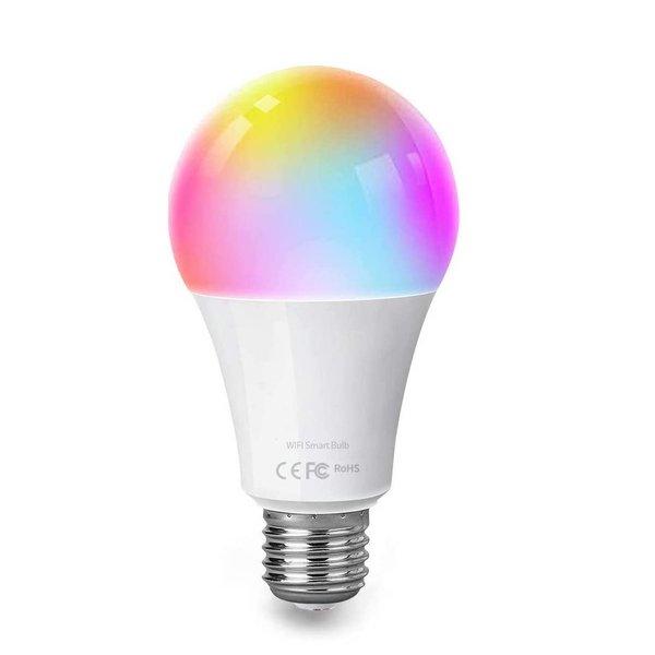 WiFi LED Lamp - E27 9W - RGB+CCT alle lichtkleuren - Bediening met de App