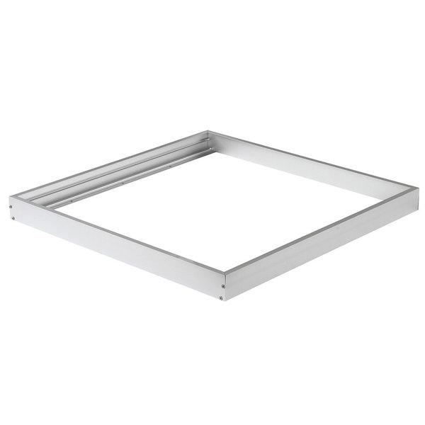 LED paneel opbouw aluminium - Zilver - 60x60cm frame systeem - 5cm hoog incl. schroeven
