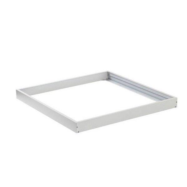 LED paneel opbouw - 60x60cm Framesysteem Type A - Wit aluminium - 5cm hoog incl. schroeven