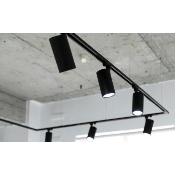 Spectrum LED Railspot Zwart Tracklight - Universeel 3-Phase - GU10 fitting, verwisselbare spot
