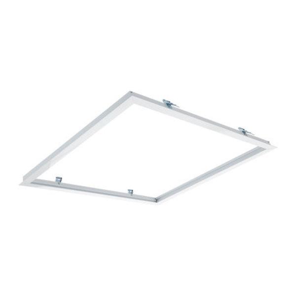 LED Paneel inbouw - 60x60cm Afdekframe Wit - Zaagmaat 613x613mm - Buitenmaat 635x635mm