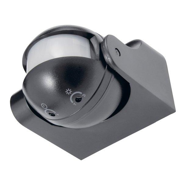 LED Bewegingssensor Zwart opbouw 180° - PIR infrarood bewegingsmelder - 230V max. 300W