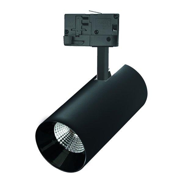 Spectrum LED Railspot Zwart Tracklight - Universeel 3-Phase - 25W 104lm p/w - 3000K warm wit licht