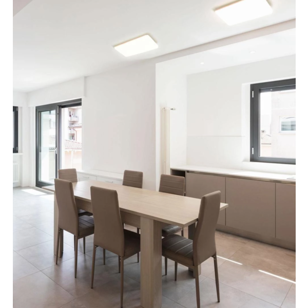 LED plafonnière 36W - Groot formaat - Lichtkleur optioneel - 230V aansluiting