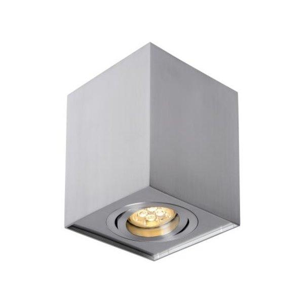 LED plafondlamp - Cube vierkant - Zilver Aluminium -  met GU10 fitting - kantelbaar - excl. LED spot