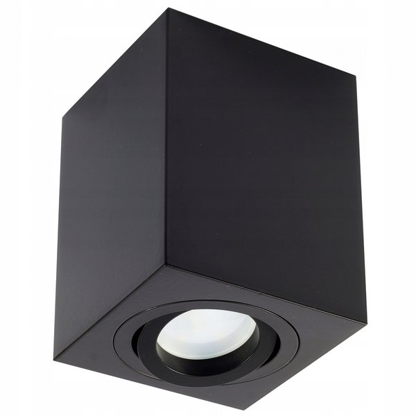 LED plafondlamp - Cube vierkant - Zwart  - met GU10 fitting - kantelbaar - excl. LED spot