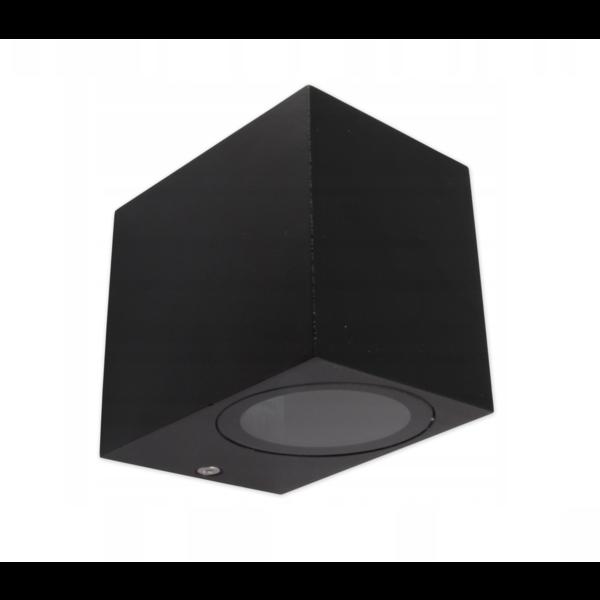 LED wandlamp vierkant Zwart - GU10 fitting - IP44 - Geschikt voor 1 GU10 spot