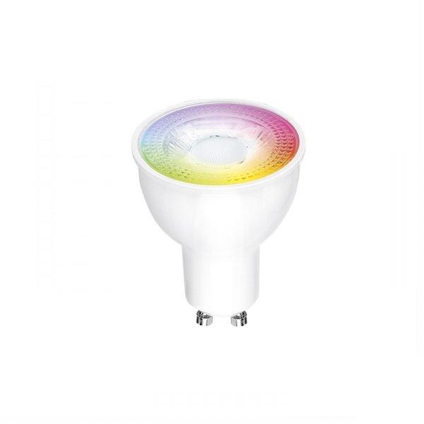 WiFi LED inbouwspot Aluminium - GU10 5W - RGB+CCT alle lichtkleuren - Bediening met de App
