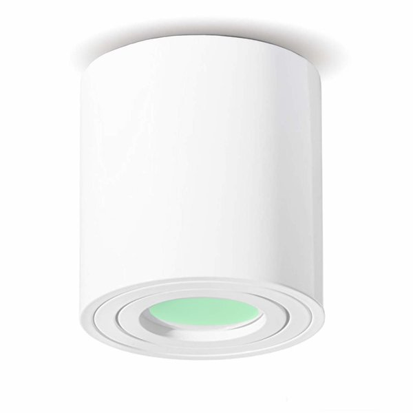 LED WiFi Plafondspot Wit Tube - 5W RGB + 3000K-6500K - Bedienen met de App