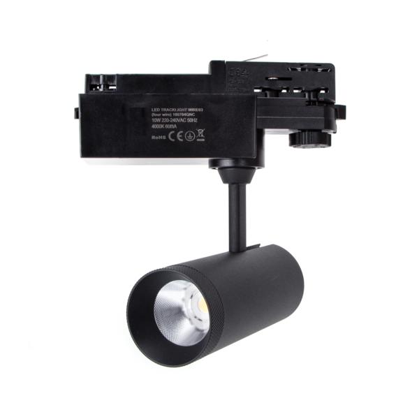 LED Track spot 3F Mat Zwart - 10W High Lumen - 4000K helder wit licht
